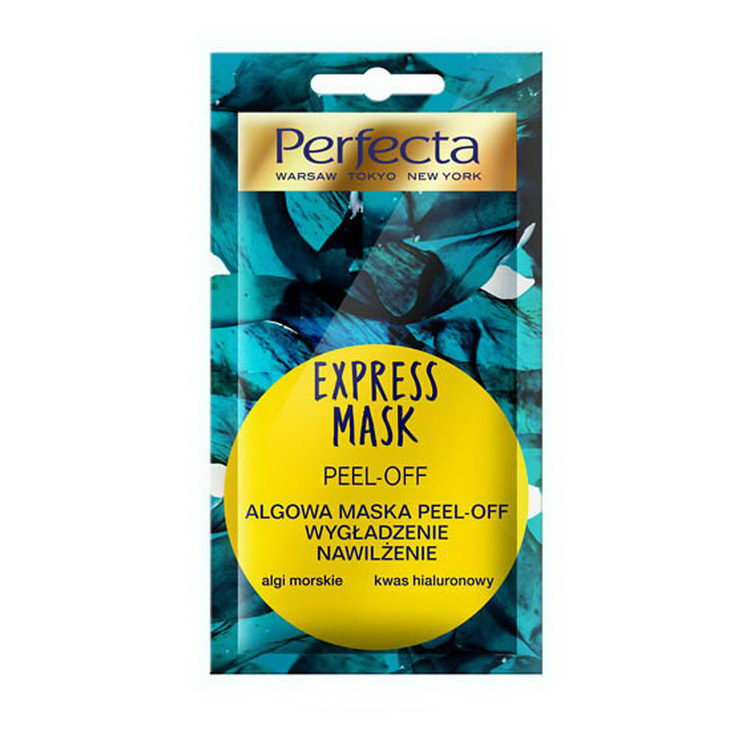 PERFECTA EXPRESS MASK PEEL-OFF ALGOWA MASKA PEEL-OFF WYGŁADZENIE